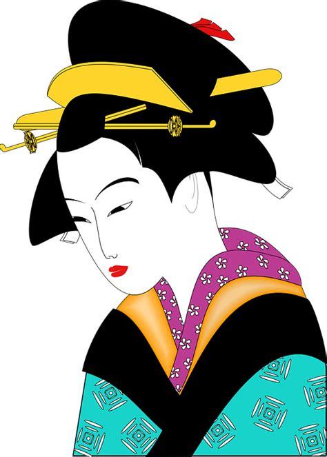 geisha clipart free vector graphic kimono geisha asian free