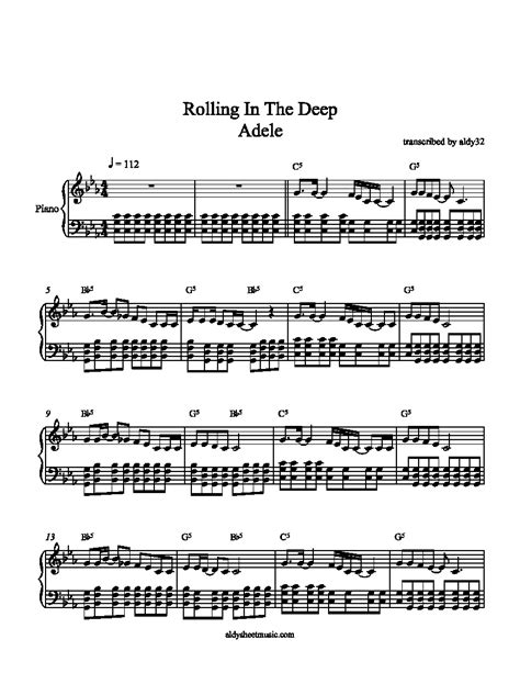 adele rolling in the deep piano music rolling in the deep piano sheet music download rolling