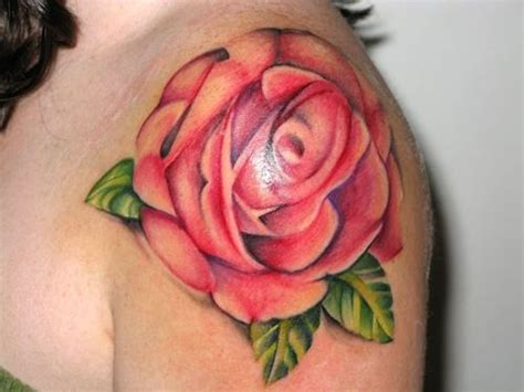 large rose tattoo 65 trendy roses shoulder tattoos