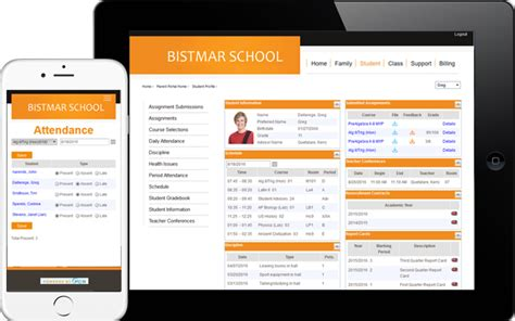 School Information Management System Website Software Alumni Database Template