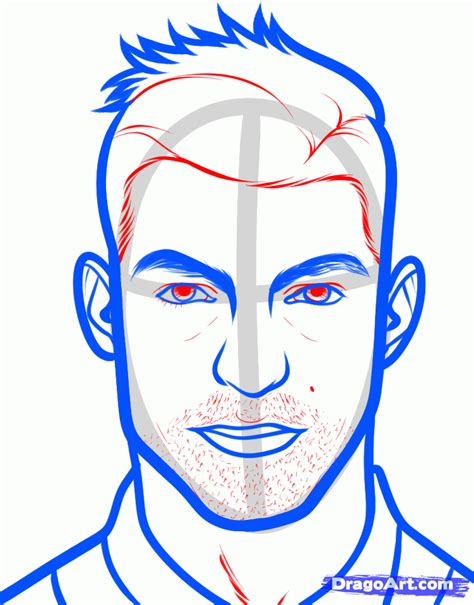 soccer haircut steps how to draw cristiano ronaldo step by step sports pop