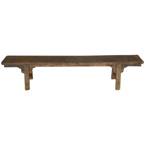 elm bench petite chinese elm bench for sale at 1stdibs