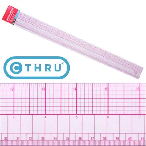 clothes pattern making supplies 24 quot 60cm c thru ruler 807a pgmdressform com