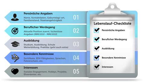 Checkliste Lebenslauf Pdf Tabellarischer Lebenslauf Gratis Vorlagen Tipps