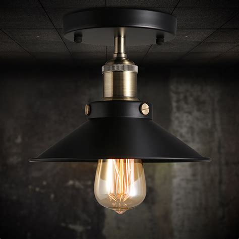 ceiling mount light fixture ceiling mount light vintage chandelier edison l fixtures lighting black ebay
