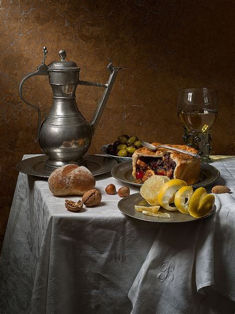 fruit o fresh pitura still with fruit pie after pieter claesz by kevin
