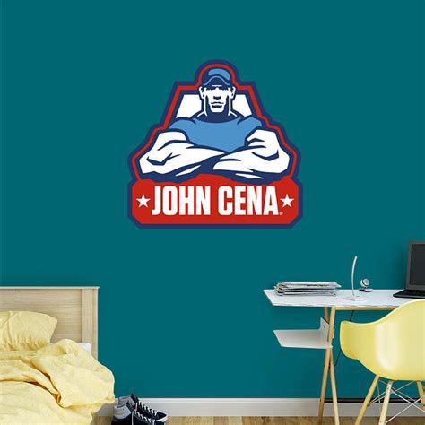 john cena bedroom decor john cena logo wall decal shop fathead 174 for wwe decor