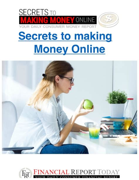 Secret To Making Money Online - a secret way to make money online