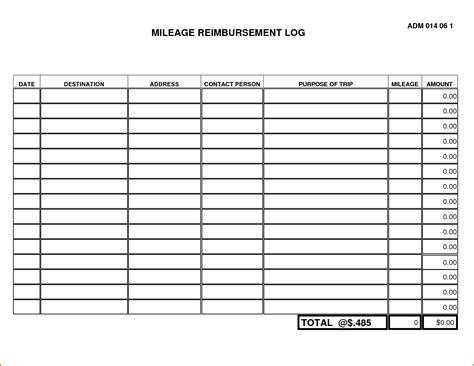 mileage log form 5 mileage log form authorizationletters org