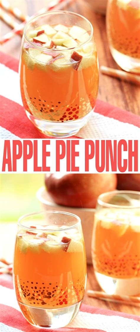 alcoholic apple pie punch recipe autumn