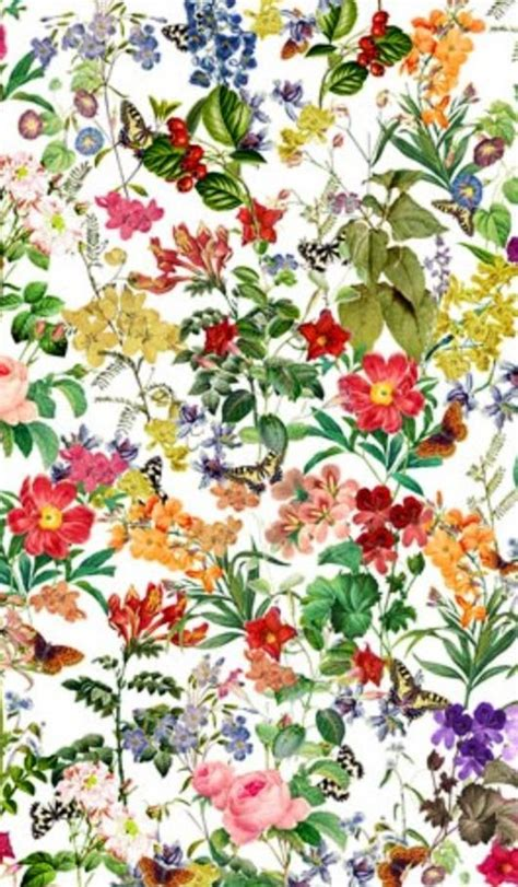 watercolor botanical pattern pretty foral print i want a table cloth like this