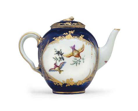 Teapot Ls For Sale by A Vincennes Porcelain Blue Lapis Teapot And Cover