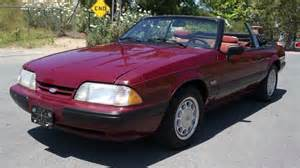 1988 Ford Mustang 5 0 1988 Ford Mustang 5 0 Lx Convertible 1 Owner