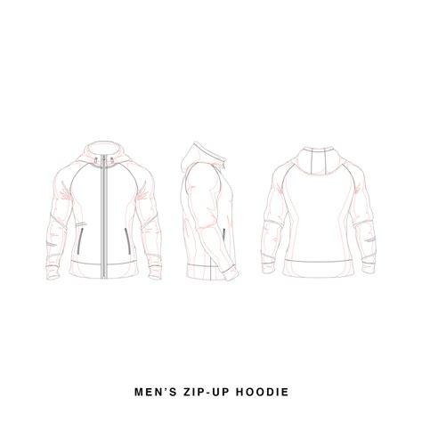 zip hoodie design template men s zip up hoodie template vector template hoodie