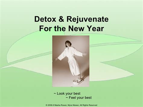 Look Out For Detox Cover by Detox Rejuvenate For The New Year