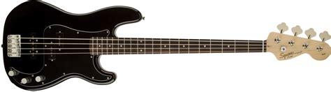 Bass Black squier 174 affinity series precision bass 174 pj rosewood fingerboard black squier bass guitars