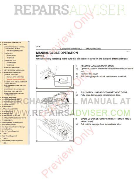 download car manuals pdf free 1992 lexus sc instrument cluster lexus sc430 pdf manual download