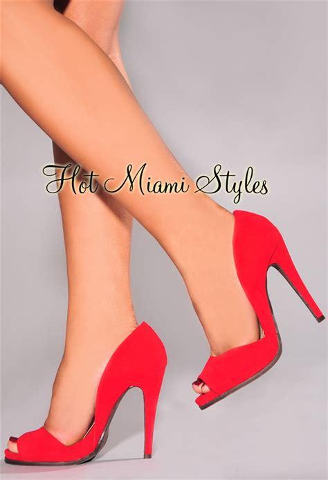 Open Toe High Heel Pumps faux suede open toe high heel pumps