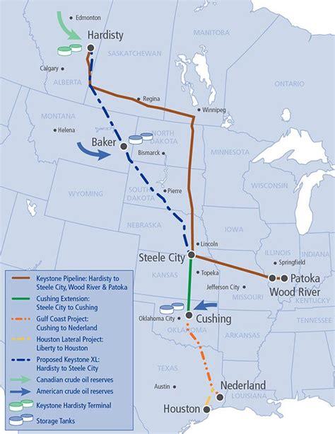 keystone pipeline map keystone xl pipeline