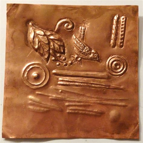 copper sheet offcuts for jewellery and repousse folksy jewelry school adentures chasing and repousse vickie