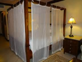 Wood Canopy Bed With Drapes Ideas For Diy Canopy Bed Frame And Curtains Curtains Design