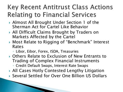section 1 sherman act the rise and fall of the antitrust class action s w