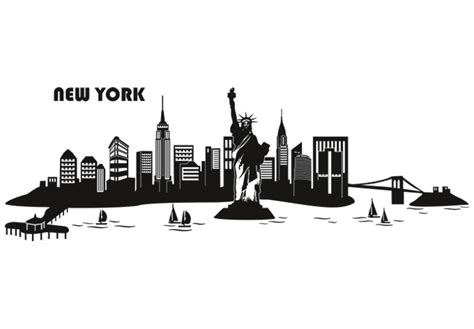 free printable art new york library free new york skyline outline download free clip art