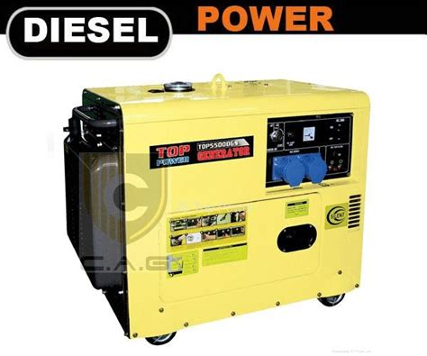 4kw silent diesel generator tp5500dgs top power china