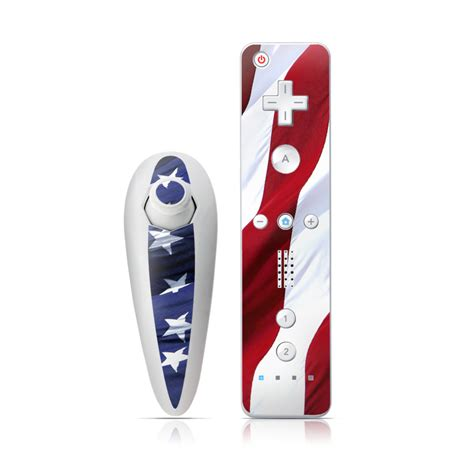Skin For Your Wii by Patriotic Wii Nunchuk Remote Skin Istyles