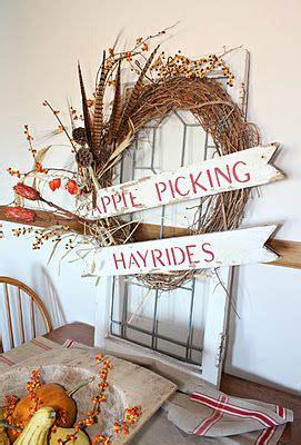 apple picking  hayrides  rusty hinge fall decor