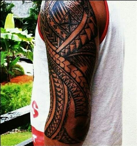 fijian tribal tattoo fijian sleeve polynesian tribal tattoos