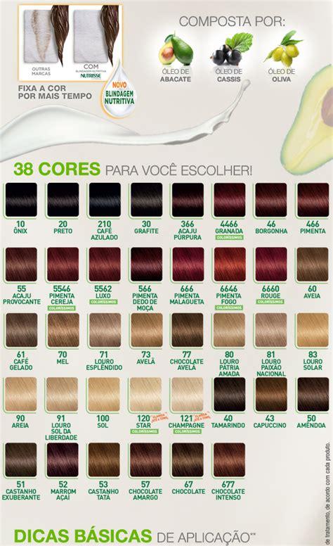 nutrisse colores tabela de cores garnier nutrisse