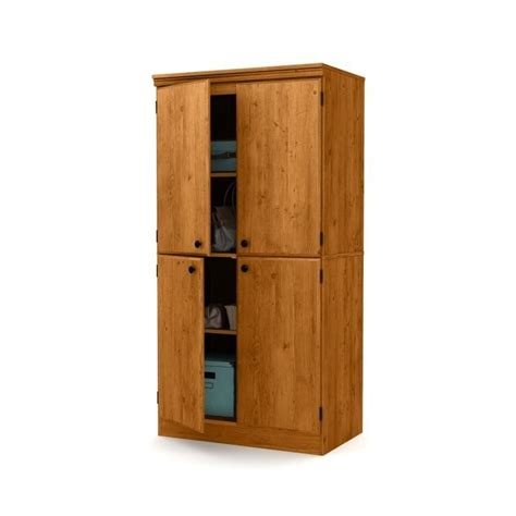 south shore storage cabinet south shore 4 door storage cabinet in country pine