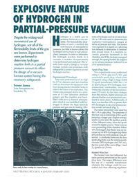 Partial Vacuum Pressure Explosive Nature Of Hydrogen In Partial Pressure Vacuum