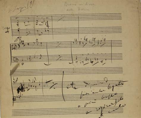 libreria puccini puccini giacomo abbozzo musicale autografo per tosca
