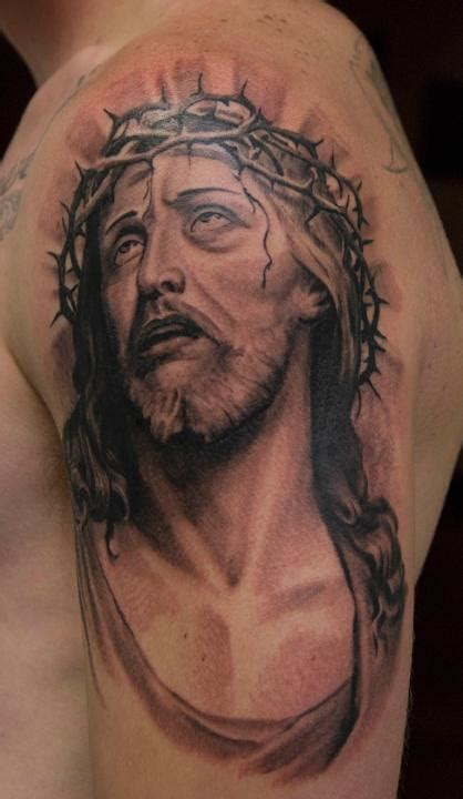 jesus portrait tattoo jesus images designs