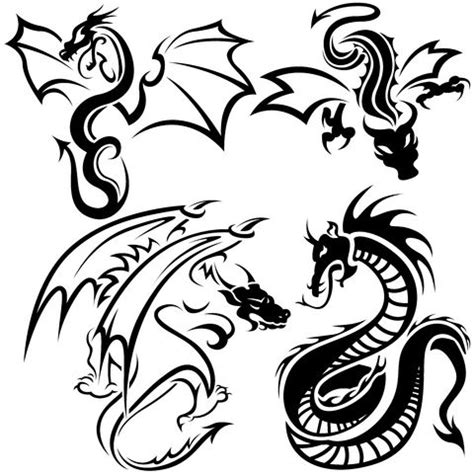 easy dragon tattoo designs cool easy designs draw kcfdt paper and