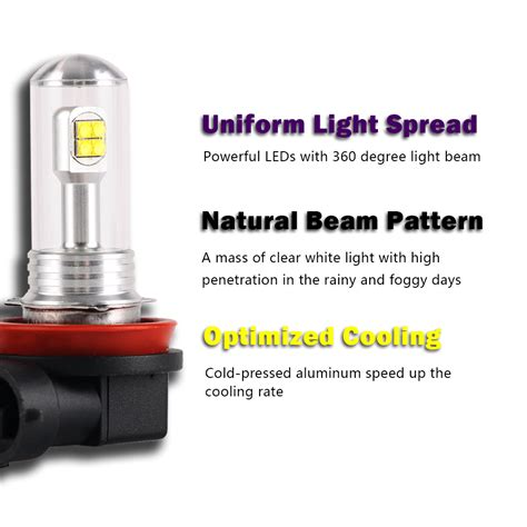 h11 led light bulbs nighteye h11 80w led fog light bulbs daytime driving l