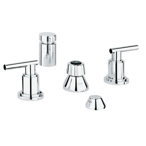 Grohe Atrio Faucet by Grohe Atrio 2 Handle Bidet Faucet In Starlight Chrome 24