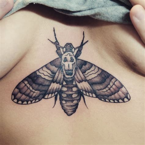 death head moth tattoo tate dean