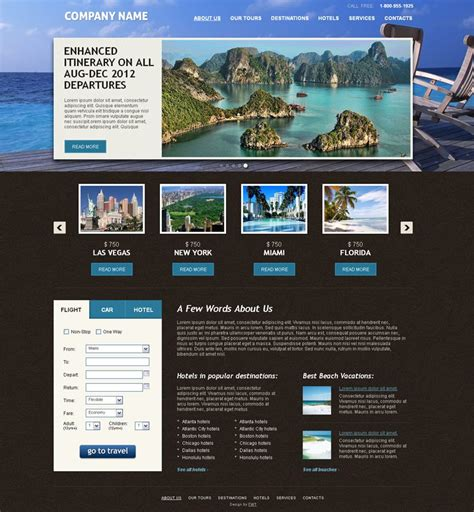 free templates for travel website free travel website template