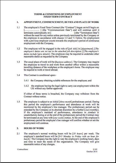 Employment Contract Template Bravebtr Employment Contract Template Uk