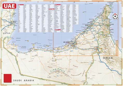 uae maps and directions large detailed roads map of uae with relief and all cities