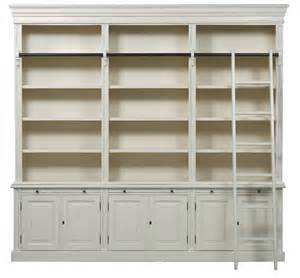 Ladder For Bookcase Bellahouse Classic 6 Door Bookcase With Ladder