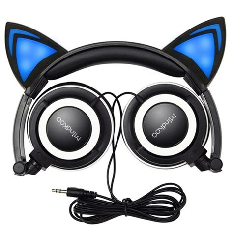 Casing Iphone 6 Custom Cat With Headphone usa taxfree cat ear headphones mindkoo glowing