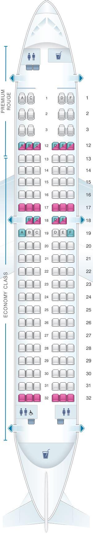 plan siege air plan de cabine air canada airbus a319 100
