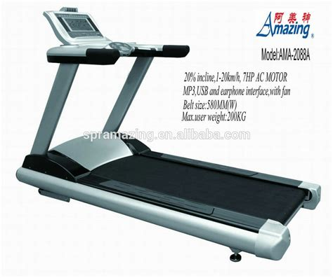 7hp ac motor fitness commercial treadmill with fan and
