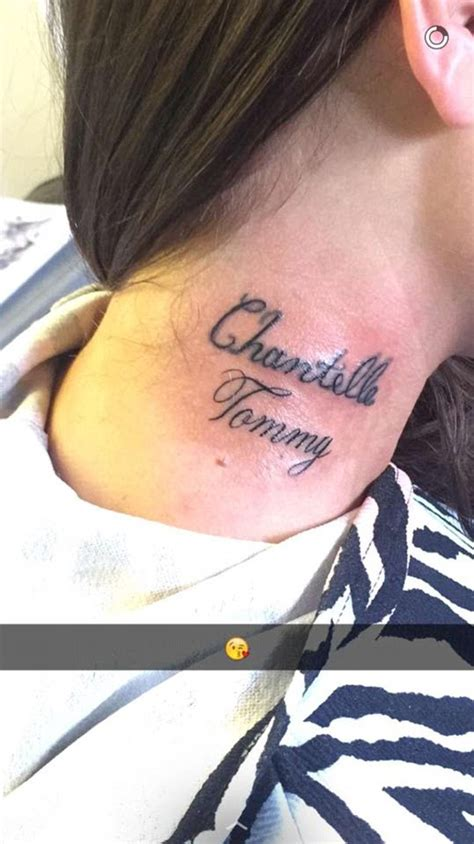 tattoo of boyfriend s lips geordie shore s chantelle connelly has tommy sayers name