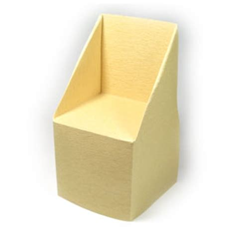 How To Make A Paper Chair - how to make a large trapezoid origami chair page 1