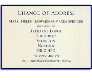 change home address personalised stationery and cards by heritage stationery